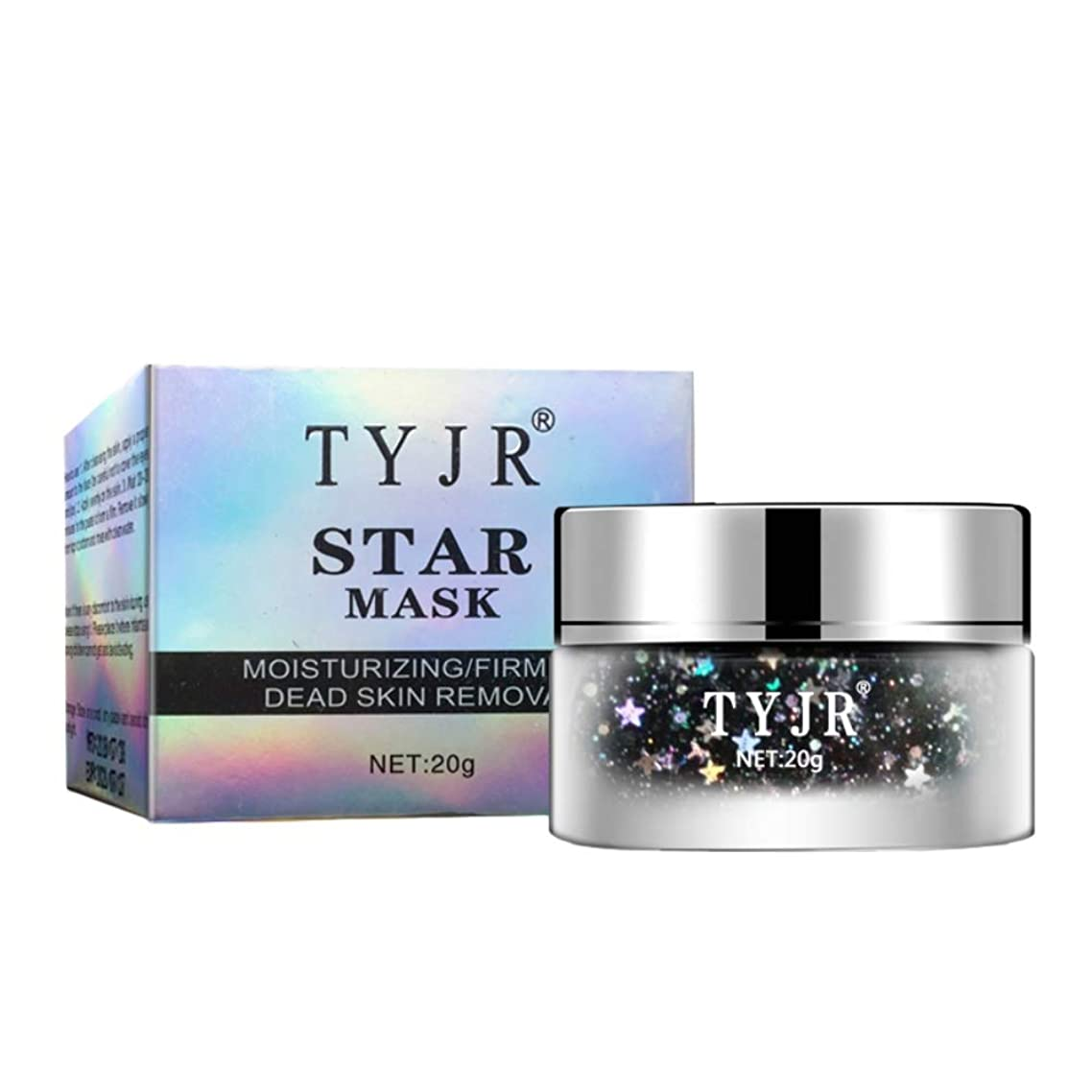 Yiitay Face Mask Star Mask Peel Off Glitter Starry Tearing Facial Mask Moisturizing Hydrating Anti Ageing Anti Wrinkle Firming Brighten Skin Reduce Pores 20g