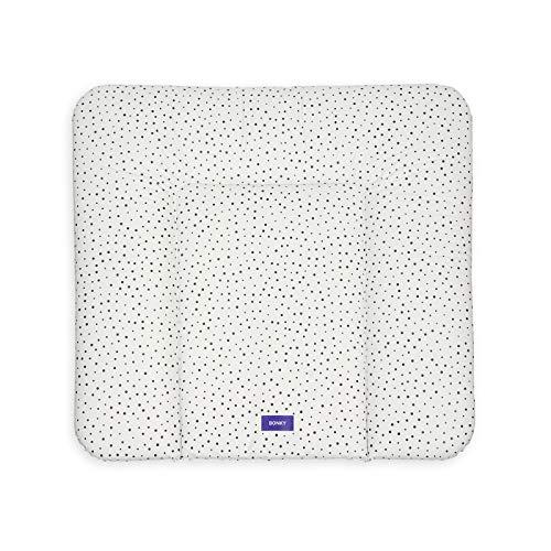 Bonky Wickelauflage weiche Wickelunterlage Baby Wickeltischauflage Abwaschbar - Punkte 75 x 70 cm