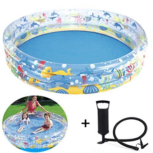 Opblaasbaar zwembad boven de grond, dik kinderbad, opblaaszwembad voor kinderen met pomp, familie opblaasbaar zwembad, zomerzwembaden voor kinderen, volwassen baby