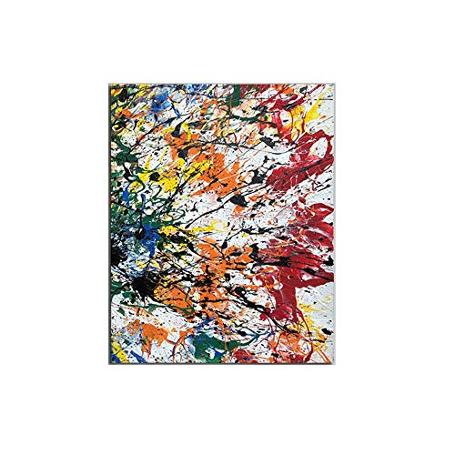 LTXMZ Jackson Pollock Abstrakte GemäLde Leinwand Bild Bunte Poster Kunstdrucke Abstrakte Wand Bilder Bild Moderne Wohnzimmer Dekoration Bild 50x70cm Kein Rahmen