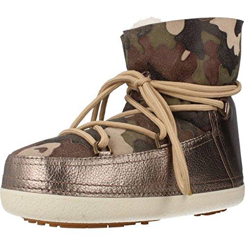 INUIKII Damen Stiefelleten Boots Camouflage METALLIC Gold 36 EU