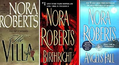 Nora Roberts Set (The Villa, Birthright, Angels Fall)
