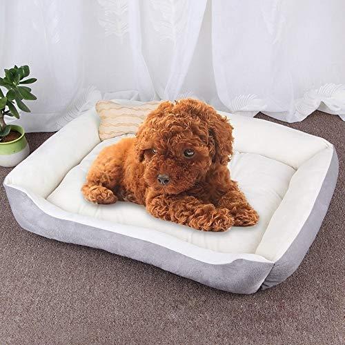 Shufeivicc Patrón de Hueso de Perro Grande Suave Suave de la herpilla de la Estera del Perro del Perro del Perro, Tamaño: XS, 50 × 40 × 15cm (Color : Grey White)