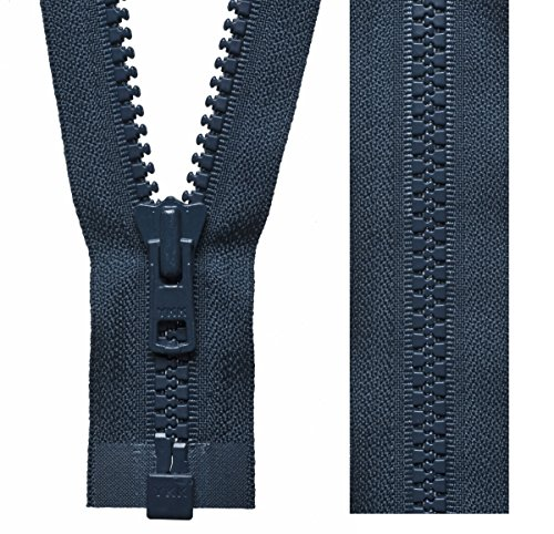 Spiral cremallera divisible Zipper número 5 chaqueta 80 cm negro