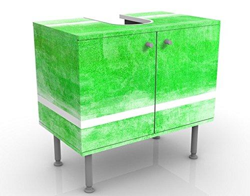 Meuble sous Vasque Design Colour Harmony Green 60x55x35cm, Petit, 60 cm de Large, réglable, Table de lavabo, Armoire de lavabo, lavabo, Meuble Bas, Baignoire, Salle de Bains, Armoire de Salle Bains