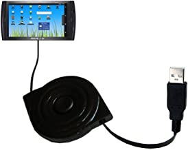 Compact and Retractable USB Power Port Ready Charge Cable Designed for The Arnova 7 / 7b / 7c / 7d / 7f / 7h G3 and uses TipExchange