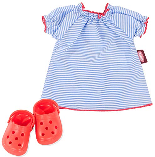 Götz 3403211 Puppen-Set Sailor - Puppenkleidung für Babypuppen Gr. M von 42 - 46 cm und Stehpuppen Gr. XL von 45 - 50 cm - 3-teiliges Set