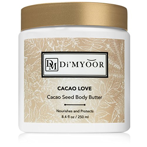 CACAO LOVE Seed Body Butter by Di'Myoor - Organic Skin Hydration, Nourishment and Protection Against Stretch Marks and Cellulite Anti Aging Cream