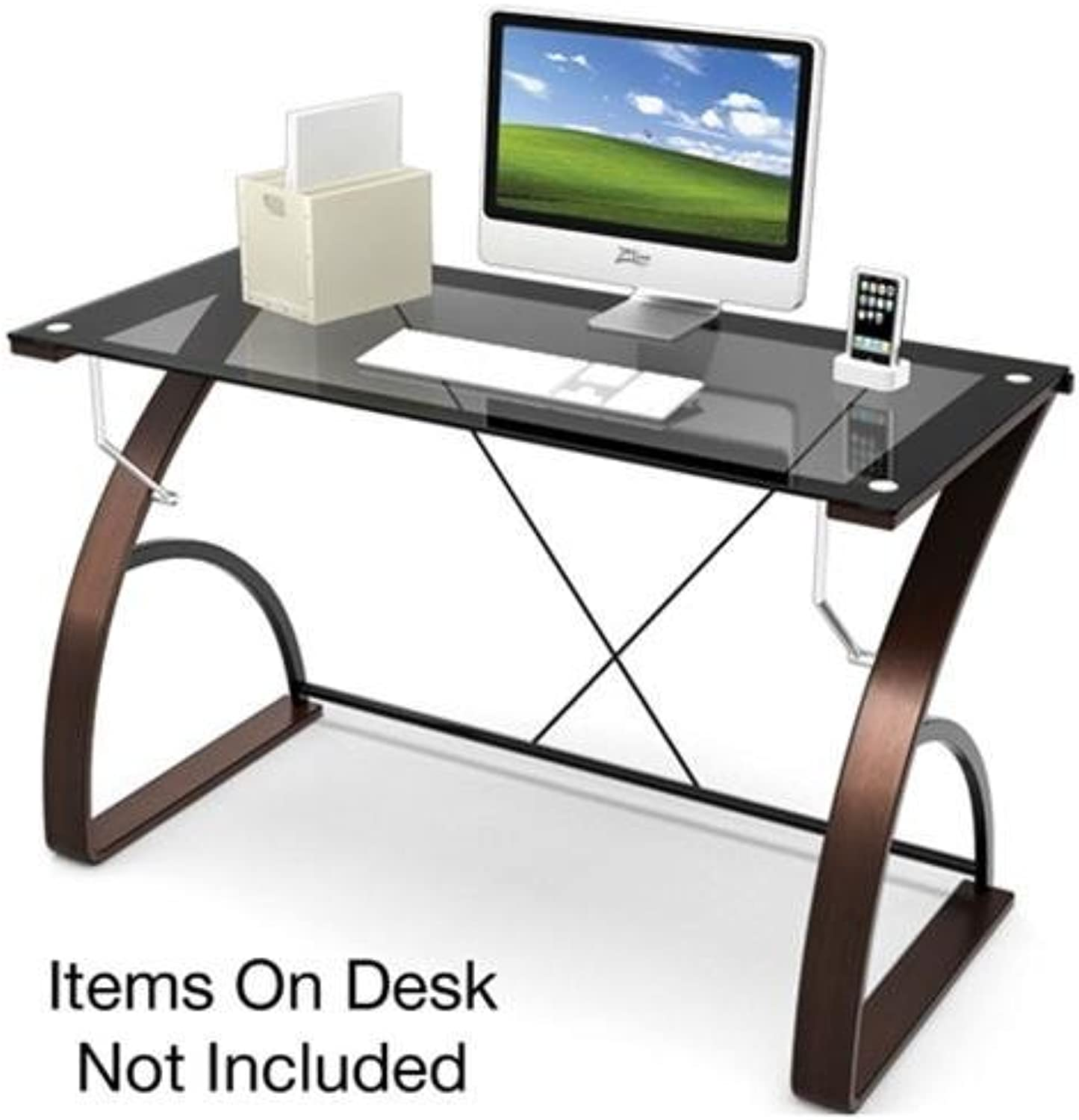 Z-Line Designs Bentwood Main Desk, Brown