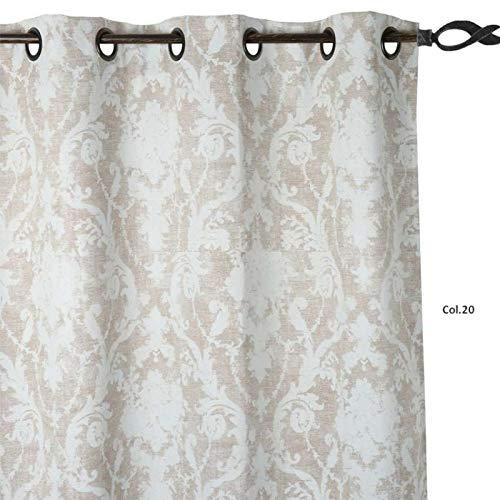 LINDER 3117379Vorhang gedruckt Verdunkelungs-Öse Polyester Beige 145x 260x 40cm