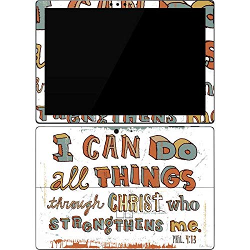 Skinit Tablet Decal Skin for Surface Pro 7 - Peter Horjus Philippians 4:13 White Design