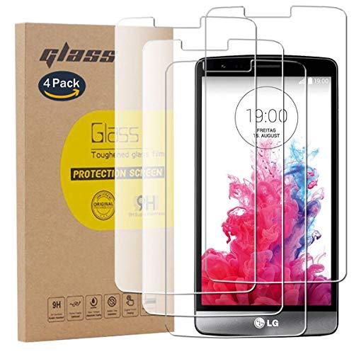 pinlu [4 Pack Protector de Pantalla de Cristal para LG G3s /...
