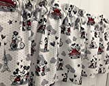 Red White and Gray Mickey Mouse Head Curtain Valance