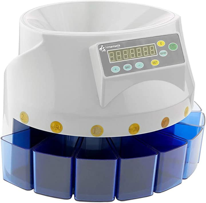 Contamonete automatico per euro macchina contatore e separatore di monete db360 primematik PN25021422521111465