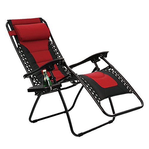 Phi Villa Padded Zero Gravity Lounge Chair