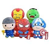 Peluche 12 Cm 5 Unids/Set Disney Marvel Avengers Muñecos De Peluche Juguetes De Peluche Ironman Spid...