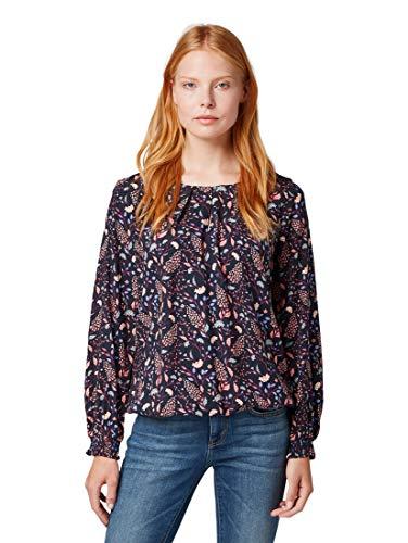 TOM TAILOR Damen Blusen, Shirts & Hemden Gemusterte Bluse Navy floral Design,36