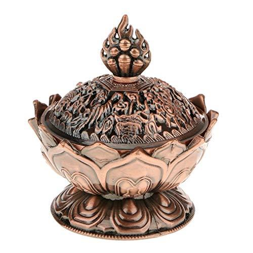 MAIAMY Lotus Encens Brûleur Cuivre Fumée Aroma Titulaire Cuisinière Encensoir pour La Décoration Intérieure Cadeau