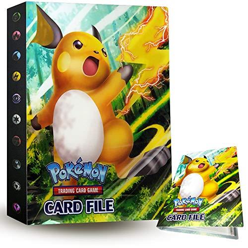 Album de Pokémon, ZoneYan Pokémon Cartes Album, Classeur pour Pokemon, Livre Carte Pokemon,Porte-Cartes Pokémon, Albums de Cartes à Collectionner, 30 Pages Capacité de 240 Cartes (Raiciu)