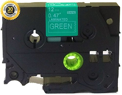 """NEOUZA White on Green Label Tape Compatible for Brother TZ-735 TZe-735 12mm P-Touch 8m 0.47""""x26.2'"""