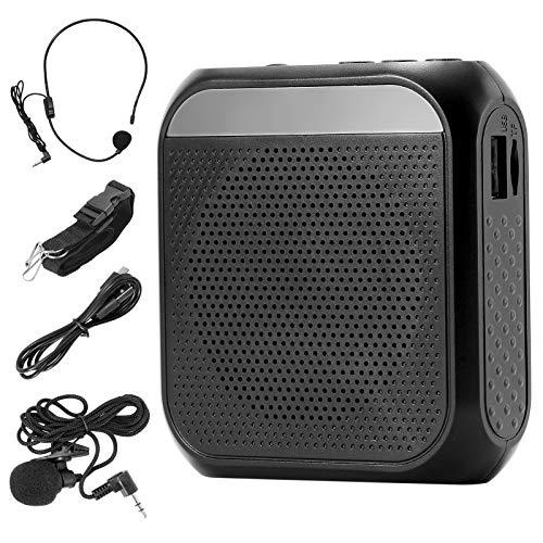 ZITFRI Amplificador de Voz Portatil Recargable de 2200 mAh, con Micrófono, Auricular...