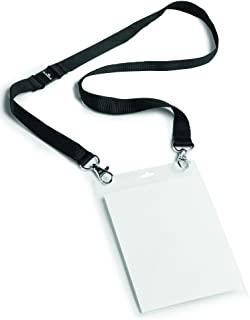 Durable 852501 Event name badge A6 with textile strap Duo, 10 pieces, black