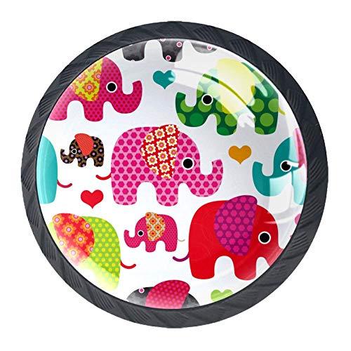 Tür Schublade Zuggriff Retro Elefant Mit Kindermöbel Dekoration für Küchenschrank Schminktisch für Kommode und Schrank
