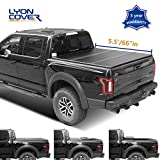 2010 ford f150 tonneau cover - Lyon cover 5.5ft 66-67 inches Hard Tri Fold Truck Pickup Bed for 2004-2014 Ford F-150 & 2006-2014 Lincoln Mark LT Bed Tonneau Cover | LED Lamp | 3 Years Warranty |
