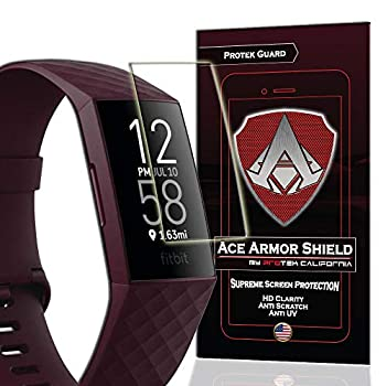 Ace Armor Shield  8 Pack  Premium HD Waterproof Screen Protector compatible with Fitbit Charge 4 / Charge 3
