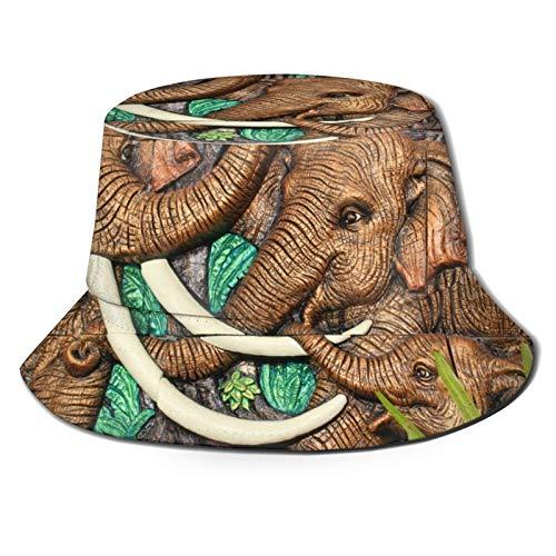 Qingyou Ancient Elephant Statue Fisherman Hat Fashionable Bucket Hat for Women Men Soft and Comfortable Fit Sun Hat