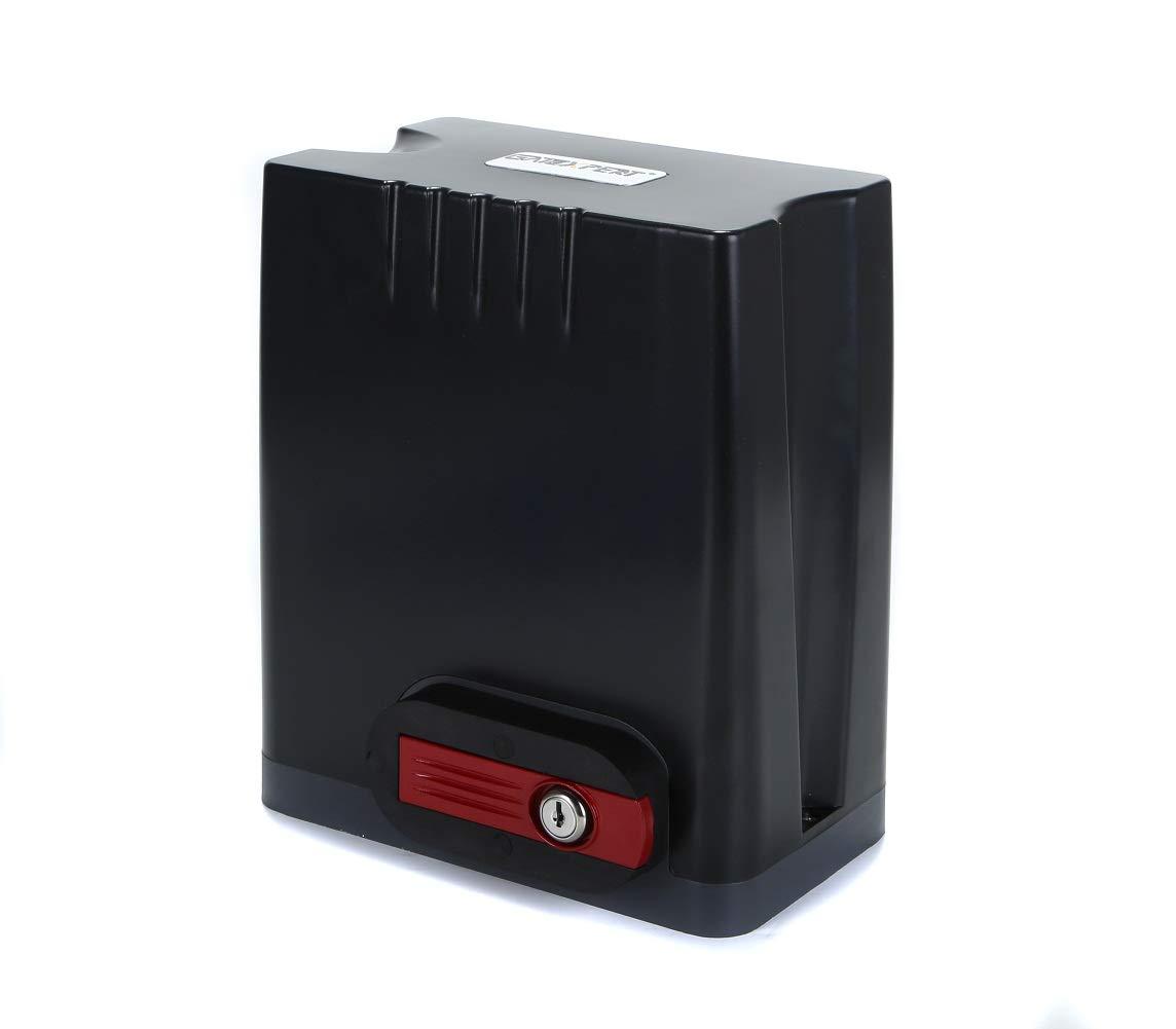 GATEXPERT Kit de abridor de puertas correderas con motor AC 110 V/60 HZ, mando a distancia inalámbrico, lámpara de alarma y sensor de infrarrojos, abridor automático de puerta de engranaje (para puerta