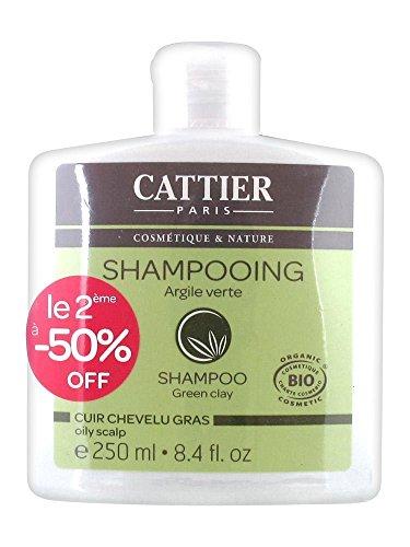 Cattier Shampoing Cuir Chevelu Gras Argile Verte Lot de 2 x 250 ml