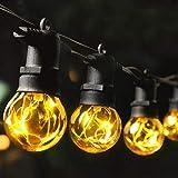MYCARBON LED Lichterkette Außen 13,5M IP67 36er Birnen wasserdicht Lichterkette Glühbirnen Outdoor Innen mit Stecker Deko für Garten Party Terrasse Zimmer Balkon 2 Ersatzbirnen Warmweiß