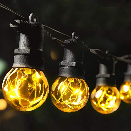 MYCARBON Guirlande Lumineuse Extérieur Guirlande Guinguette LED IP65 Etanche 36 Ampoules 13,5m 2 Ampoules de Rechange 2200K pour Noël Fête Mariage Soirée Décoration Intérieure Chambre Jardin