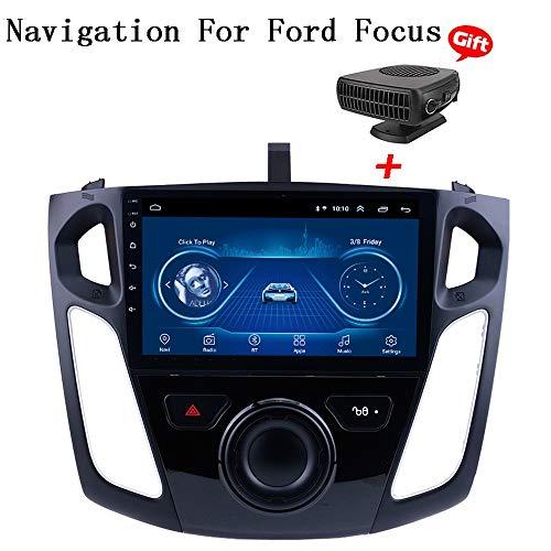 XBRMMM Android 8.1 Pantalla Capacitiva Sistema Multimedia De Navegación 9'' Navegación GPS Táctil para Ford Focus 2012-2017 Soporte Bluetooth 4.0 WiFi Control De Google Volante, Am FM RDS