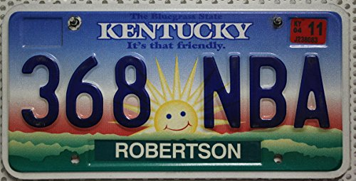 Kentucky Auto-Kennzeichen, USA Nummernschild, US License Plate, Metallschild
