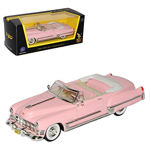 Lucky Die Cast Cadilac Coupe DeVille Cabrio Pink Elvis Presley 1949 1/43 Yatming Modell Auto