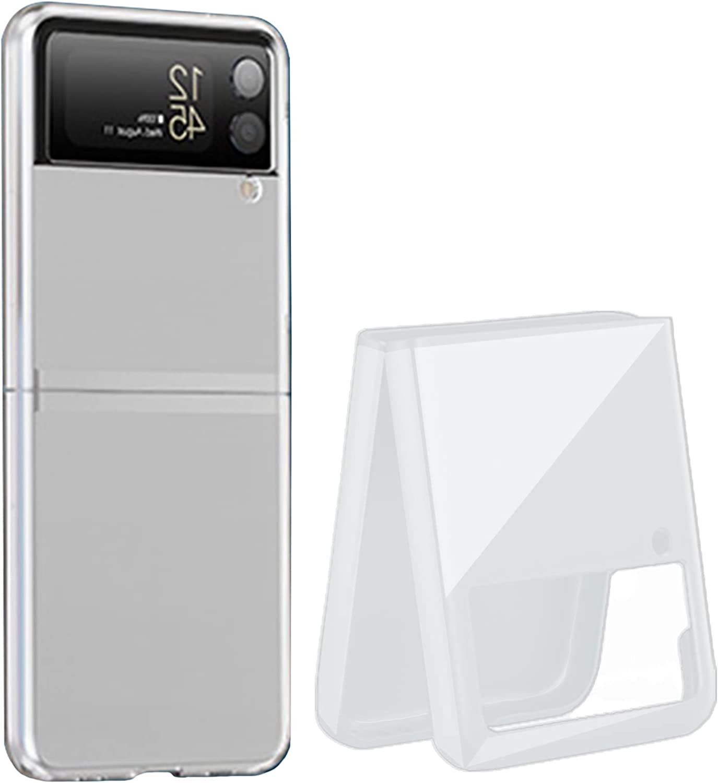 Miimall Compatible with Samsung Galaxy Z Flip 3 2021 Case Cover, Galaxy Z Flip 3 PC Case Ultra-thin Matte Finish Anti-fingerprint Anti-oil Bumper Case for Samsung Galaxy Z Flip 3 Flip 3 5G 2021(Clear)