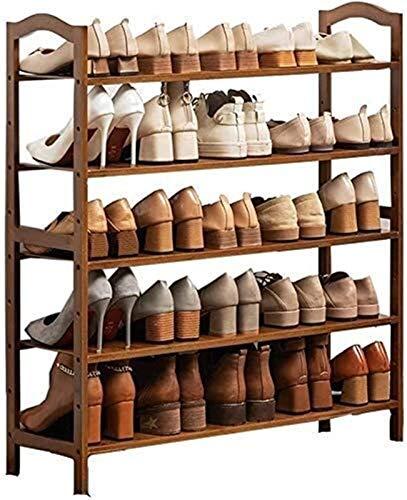 QZMX Estante de Zapatos Zapatero Zapatero Zapatero multifunción, Organizador for los estantes de Modern Multi Capa Zapatos de Madera, for Sala de Estar con baño Pasillo de Entrada Estante