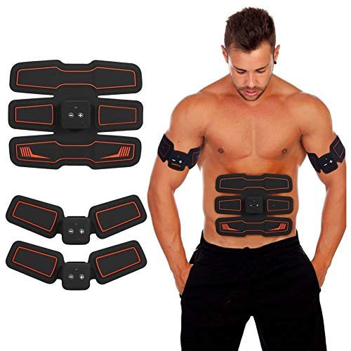 EléCtrico Muscular Entrenador, Estimulador Muscular, Cinturon Electroestimulador Abdominales Tonificacion, Electroestimulador Abdominal Mujer...