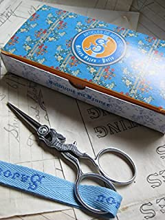 French Sajou Silver Running Hare Hand Paired Embroidery Scissors