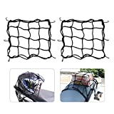 Motorrad Gepäcknetz Fahrrad Netz 2 Stück Helmnetz mit Haken Spannnetz Sicherungsnetz für...