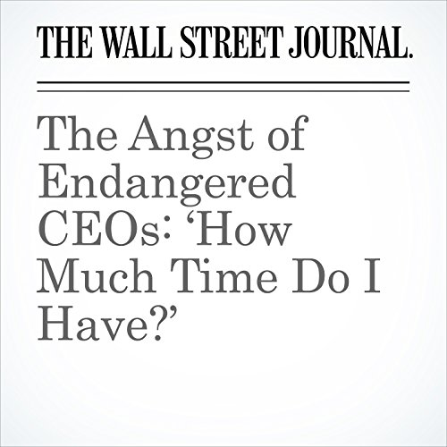 The Angst of Endangered CEOs: 'How Much Time Do I Have?' copertina