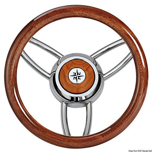 Osculati Volante Bliz Legno lucido Mogano (Blitz Steering Wheel w/Polished Mahogany oute