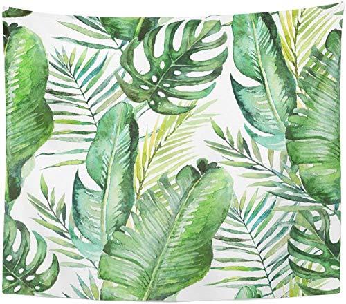 guohao Tapiz de Pared Verde Tropical Palmera Hojas de Helecho Tapiz Colgante de Pared Toalla de Playa Mantel Estera de Yoga para Sala de Estar decoración del hogar (51x59 Pulgadas)