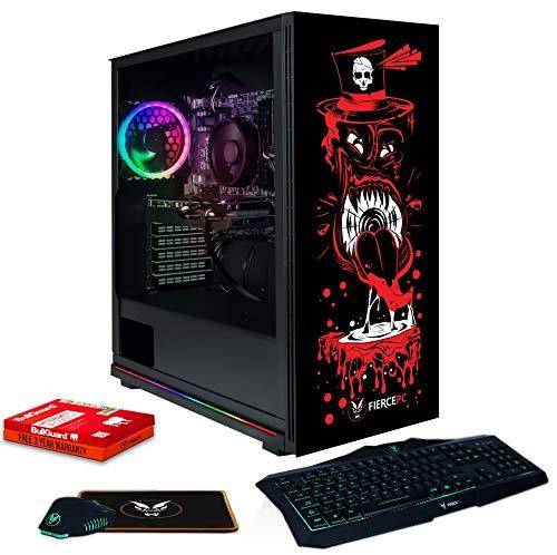 Fierce Berserker RGB PC Gamer Paquete - Rápido 4.0GHz Quad-Core AMD Ryzen 3 2300X, 1TB SSD, 8GB de 3000MHz, NVIDIA GeForce GTX 1650 4GB, Teclado (UK/QWERTY), Raton 989005