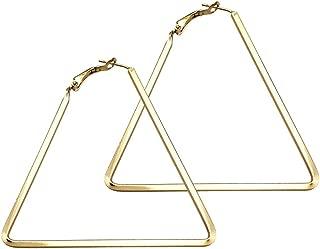 Best large triangle hoop earrings Reviews