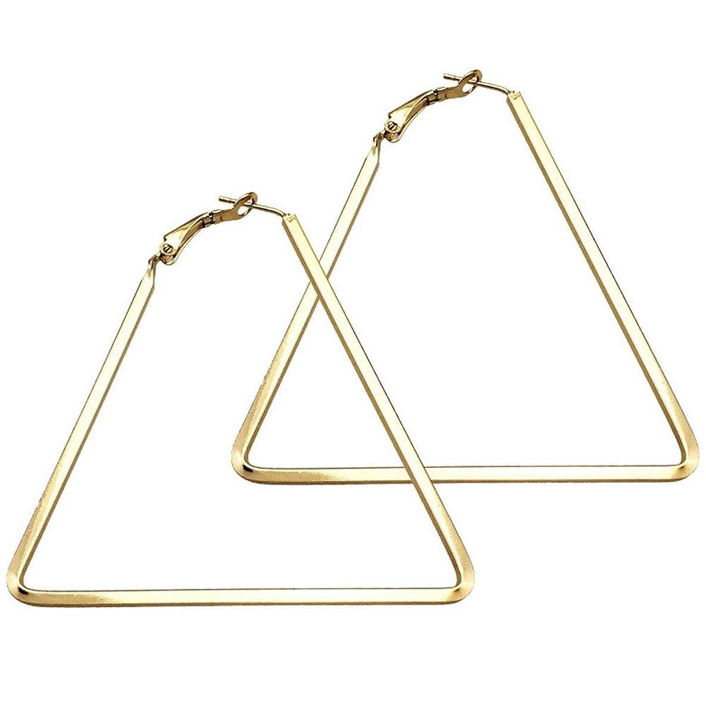 Cereza Stainless Steel Simple Geometric Hoop Earring For Women Girls