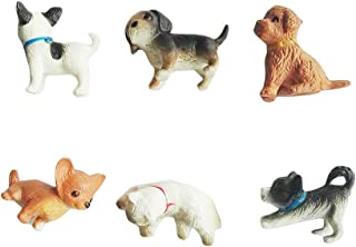 Dollhouse Family Set Pretend Play Figures Family Role Play Mini Animal Figure People Pet Dog Cat Figures for 1:12 1:6 Scal...