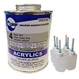 Weld-On 4 Acrylic Adhesive - Pint and 6 Pack of Weld-On Applicator Bottle with Needle